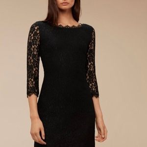 Aritzia Talula Babaton Rafael lace dress black 4